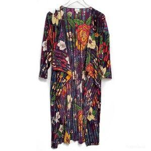 Lularoe Floral Shirley Pleated Kimono